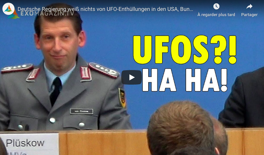 Meanwhile in Germany: The German government knows nothing about UFO revelations in the USA, German Military insists they never saw UFOs
