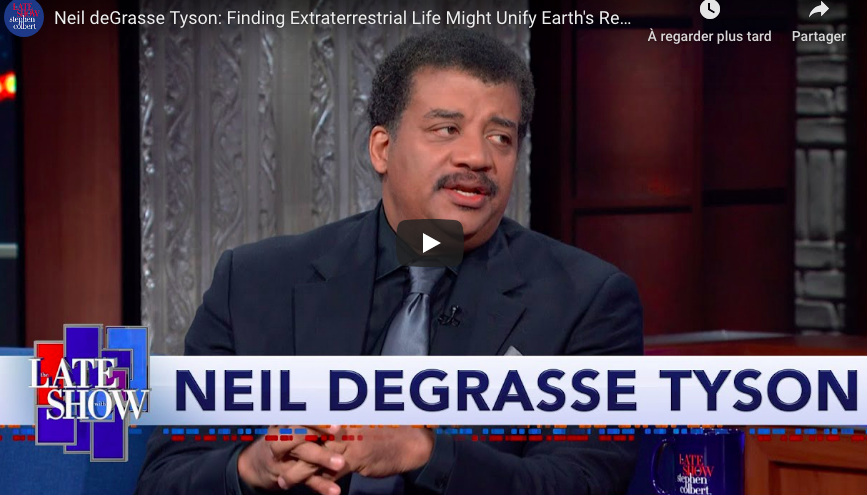 The late Show : ITW Neil DeGrasse Tyson