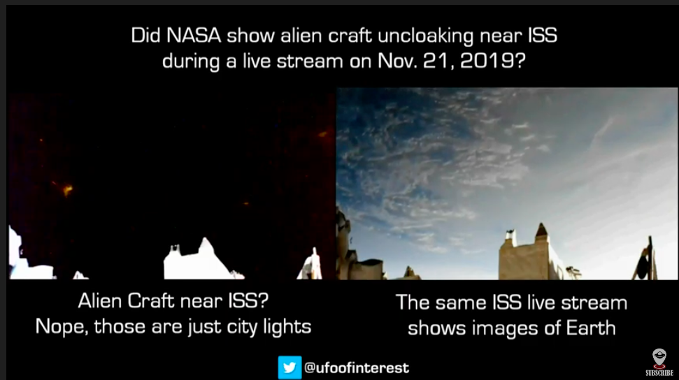 Ufoofinterest : Did NASA show an alien craft during ISS Live Stream?